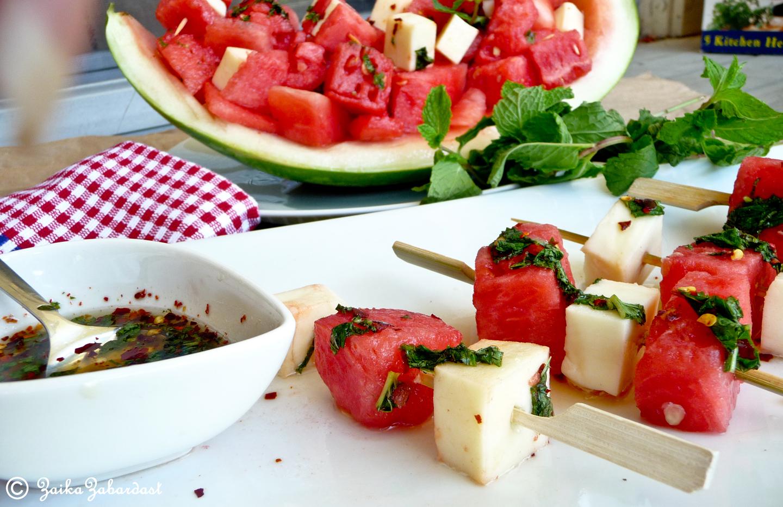 Watermelon Mozzarella Salad Zaika Zabardast