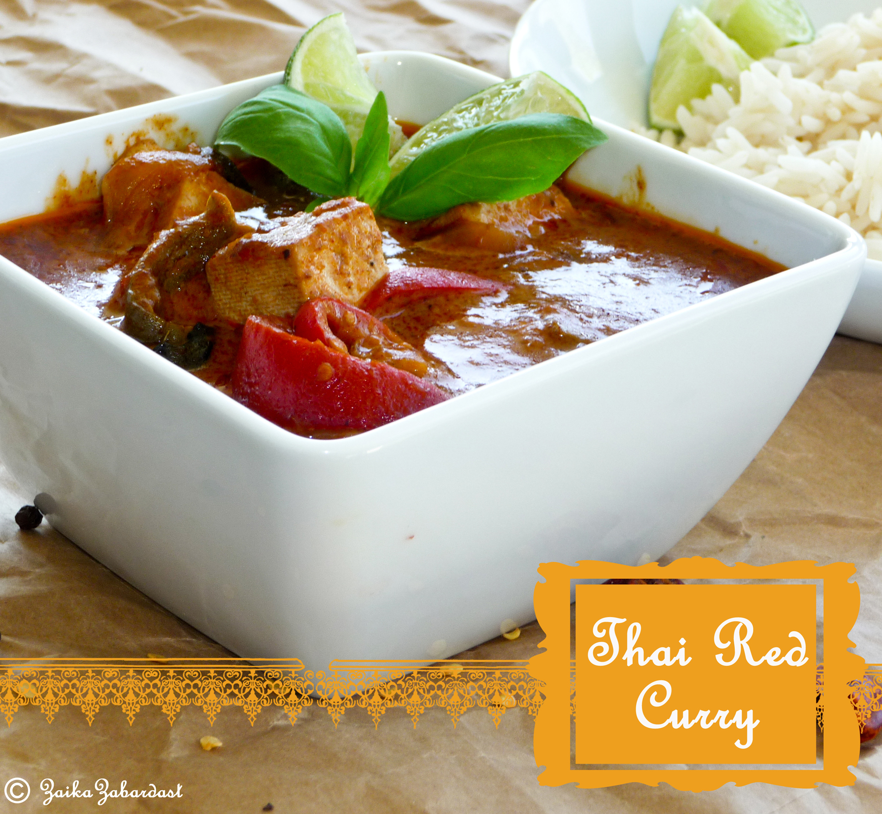 Thai red curry zaika zabardast for Best thai red curry