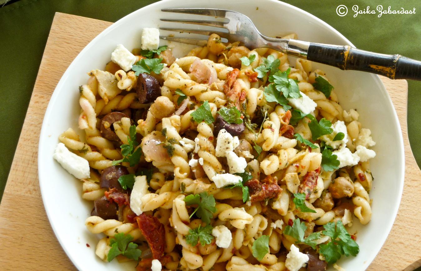 Mediterranean pasta salad | Zaika Zabardast