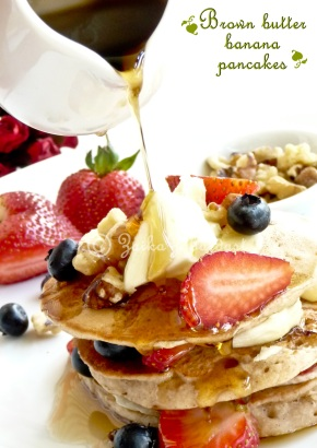 Brown butter banana pancake