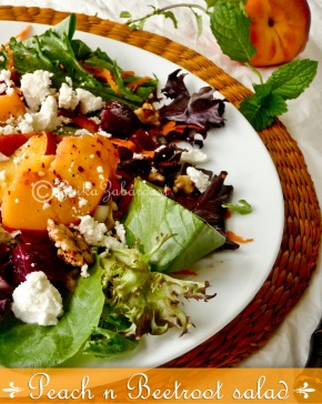 Peach n Beetroot salad