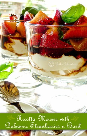 Ricotta mousse with balsamic strawberries
