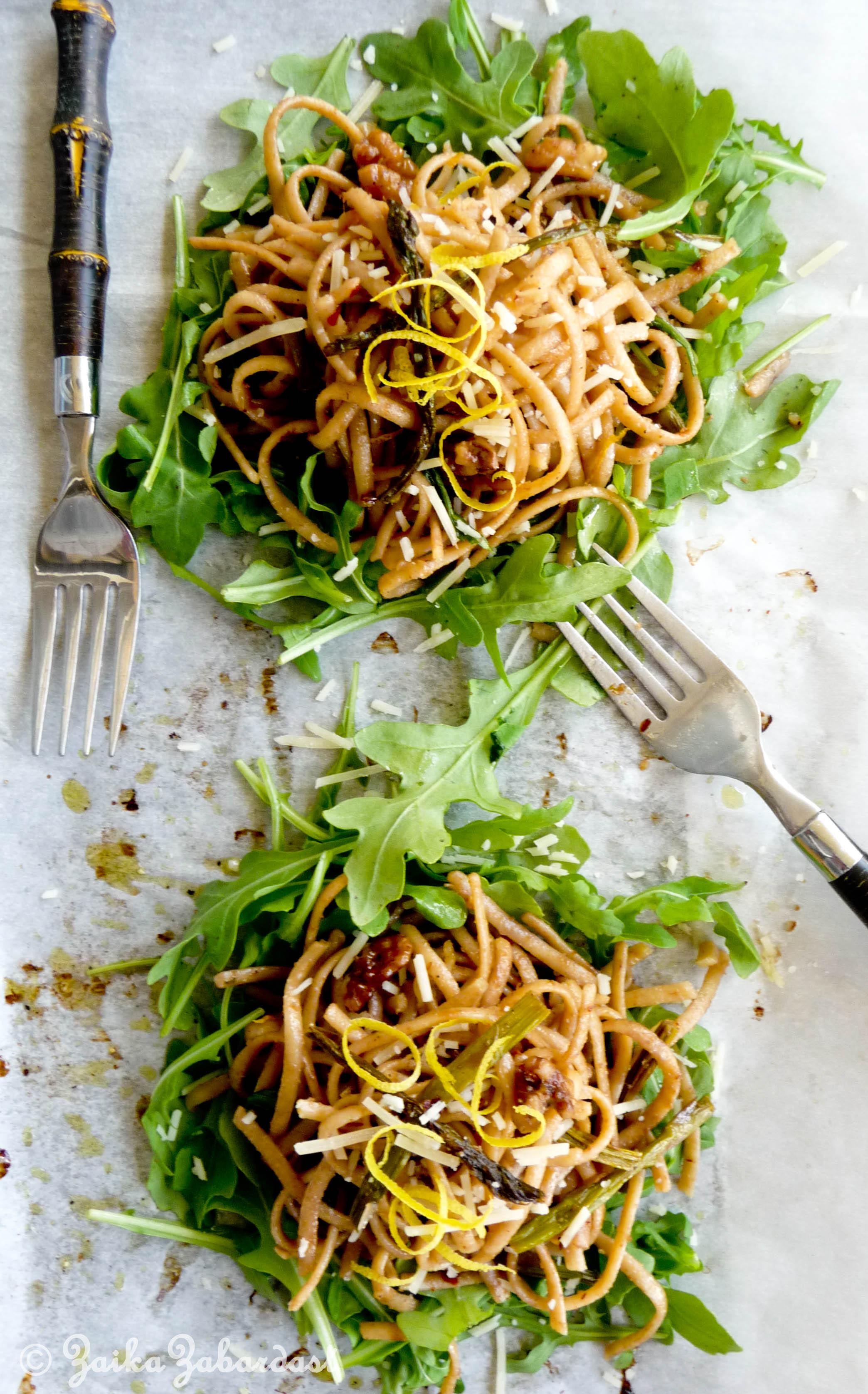 Spring pasta with lemony, garlicky, buttery walnut sauce(YUMM) – The ...