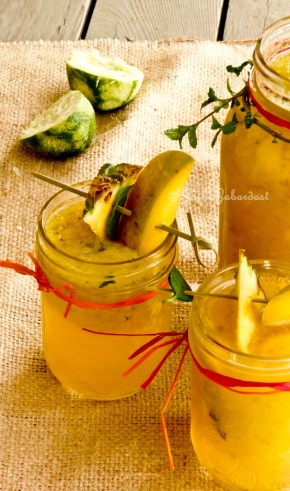 Kid Friendly Mango Pineapple Sangria