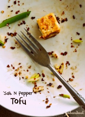 Salt n Pepper tofu